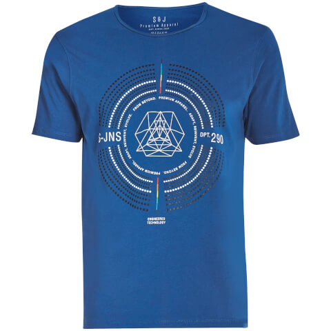 T-Shirt Homme Iconostasis Col Rond Smith & Jones -Bleu
