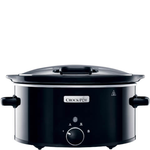Crock-Pot CSC031 5.7 Litre Hinged Lid Slow Cooker - Black