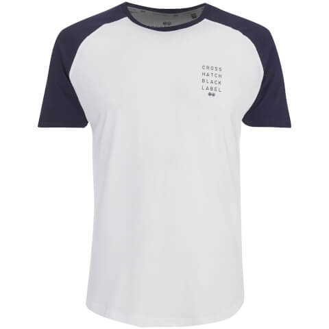 T-Shirt Homme Crosshatch Terrace - Blanc/Marine