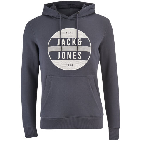 Jack & Jones Men's Core Trevor Graphic Hoody - Ombre Blue