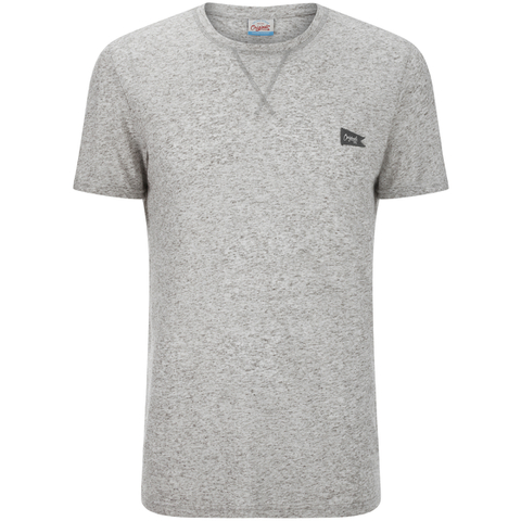 Jack & Jones Men's Originals Kingpin Textured T-Shirt - Light Grey Marl