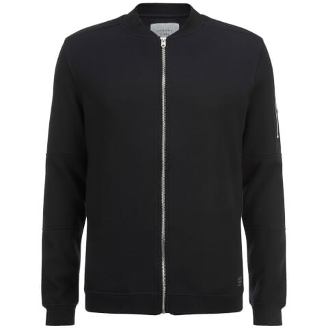 Jack & Jones Men's Core Pete Jersey Bomber Jacket - Black