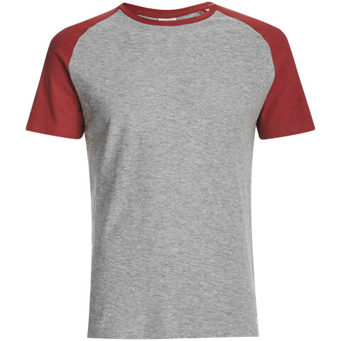 Jack & Jones Men's Originals Stan Raglan T-Shirt - Light Grey/Khaki