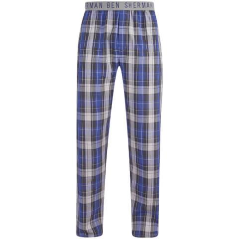 Pantalón pijama cuadros Ben Sherman Jake - Hombre - Gris/azul