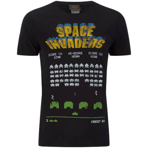 Atari Men's Space Invaders Classic Screenshot T-Shirt - Black
