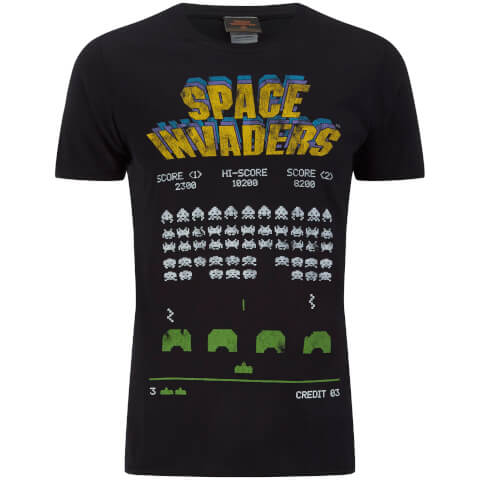 T-Shirt Homme Atari Space InVadors Classic Screenshot - Noir