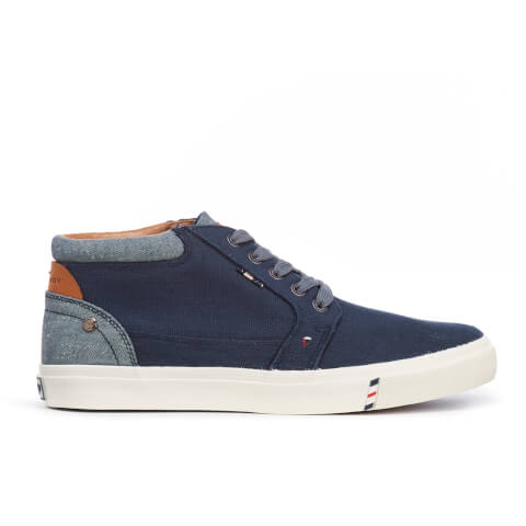 Wrangler Men's Icon Chukka Canvas Hi Top Trainers - Navy