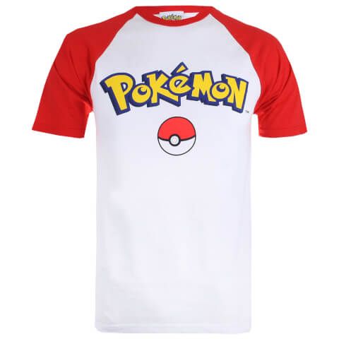 Pokemon Men's Logo Contrast T-Shirt - White/Red