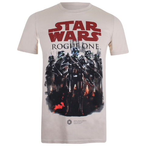 Camiseta Rogue One Star Wars Escuadrón - Hombre - Blanco arena