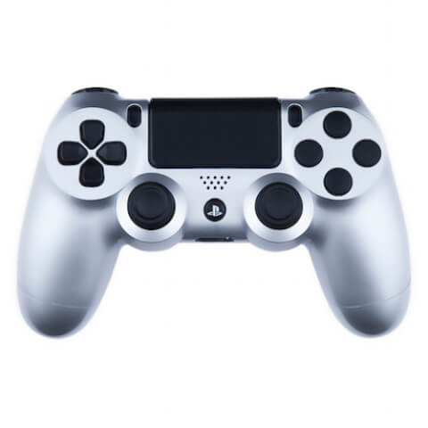 Playstation 4 Custom Controller - Gloss Silver & Black