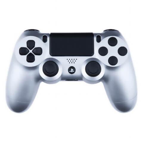 Manette PS4 Custom -Édition Argent et Noir Gloss