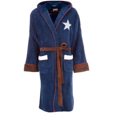 robe de chambre pour homme captain america merchandise. Black Bedroom Furniture Sets. Home Design Ideas