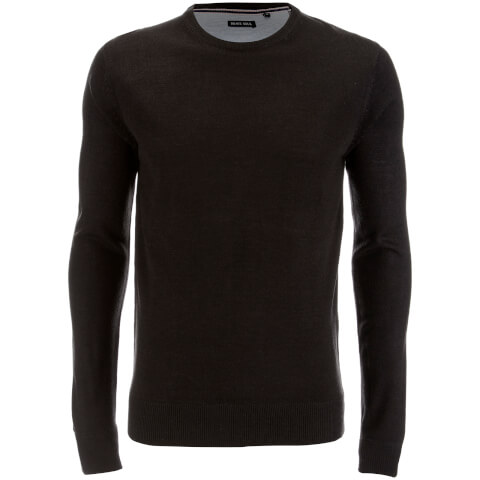 Brave Soul Men's Parse Supersoft Crew Neck Jumper - Charcoal Marl