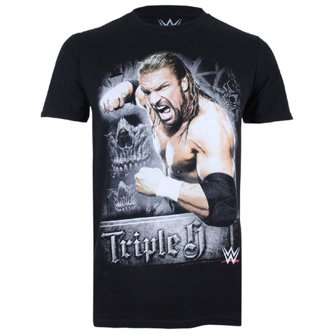 T-Shirt Homme WWE Triple H - Noir