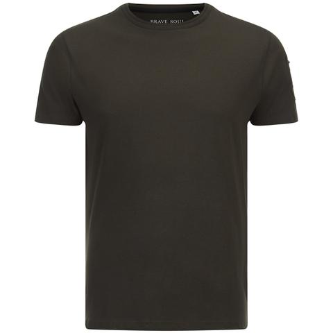 Brave Soul Men's Kershaw Pocket Sleeve T-Shirt - Khaki