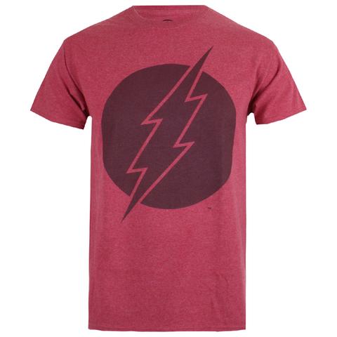 DC Comics Men's Vintage Flash T-Shirt - Heather Cardinal