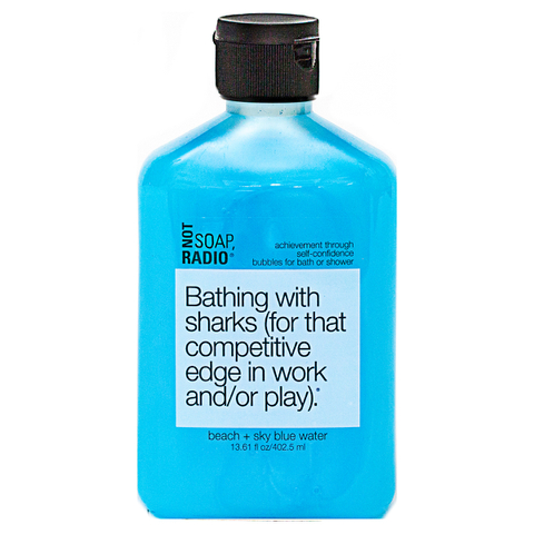 Not Soap Radio Bathing with sharks (for that competitive edge in work and/or play) Bubbles for Bath/Shower 402.5ml