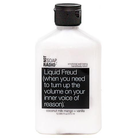 Not Soap Radio Liquid Freud (when you need to turn up the volume on your inner voice of reason) Hand/Body Lotion 375ml
