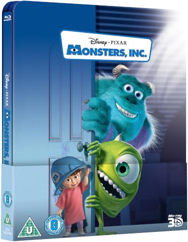 Monsters, Inc. 3D (Includes 2D Version) - Zavvi Exclusive Lenticular Edition Steelbook
