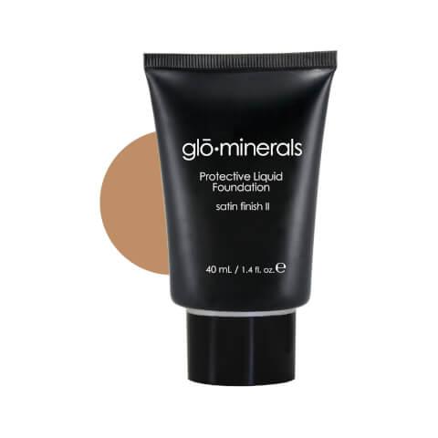 glominerals gloProtective Liquid Foundation Satin II - Golden-Dark