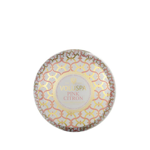Voluspa 2 Wick Maison Metallo Candle - Pink Citron