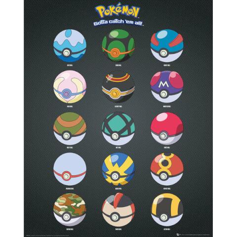 Pokemon Pokeballs Mini Poster - 40 x 50cm