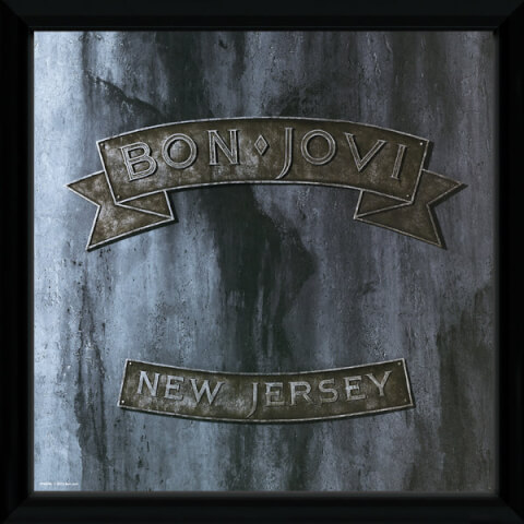 Bon Jovi New Jersey Framed Album Cover - 12