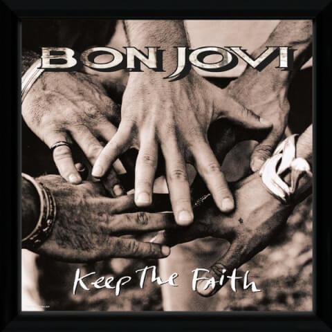 Bon Jovi Keep The Faith Framed Album Cover - 12