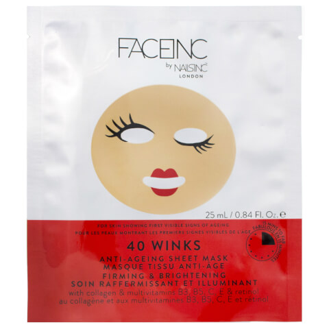 FACEINC by nails inc. 40 Winks Anti-Ageing Sheet Mask - Firming and Brightening