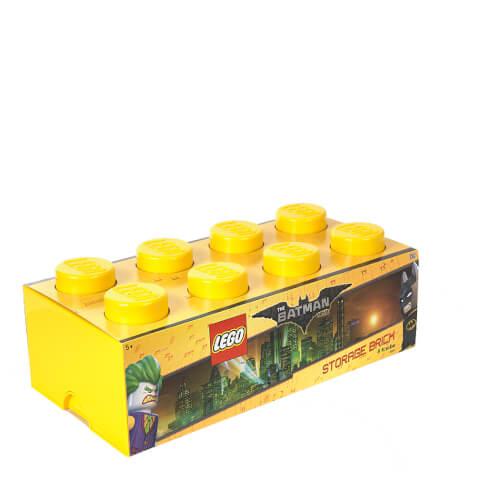 Caja de almacenamiento Ladrillo 8 LEGO Batman - Amarillo