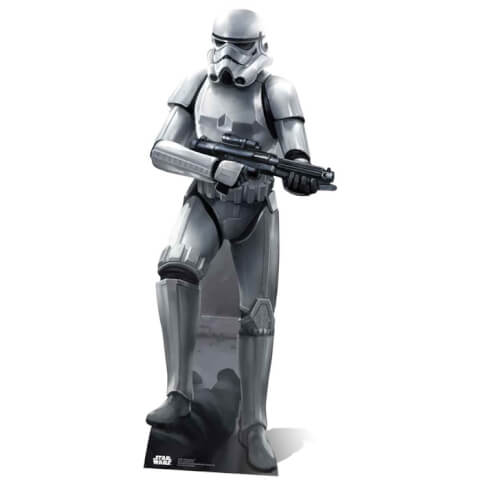 Star Wars Stormtrooper in Battle Pose Life Size Cut Out