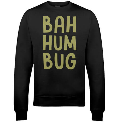 Bah Hum Bug Christmas Sweatshirt - Black