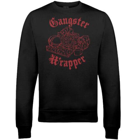 Gangster Wrapper Christmas Sweatshirt - Black