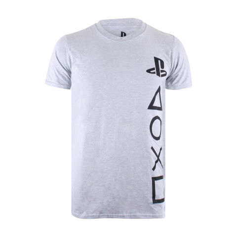 PlayStation Men's Symbols T-Shirt - Sports Grey