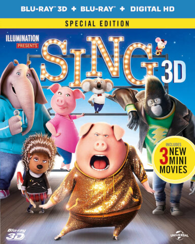Sing 3D (Includes DVD + 2D Version + UV Copy)