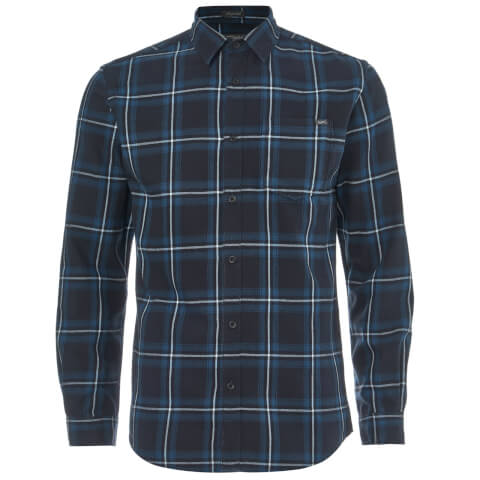 Jack & Jones Men's Originals Larson Long Sleeve Check Shirt - Total Eclipse