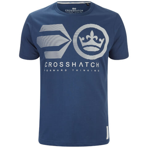 Crosshatch Men's Briscoe Logo T-Shirt - Insignia Blue