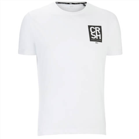 Crosshatch Men's Aileen Logo Front and Back Print T-Shirt - White