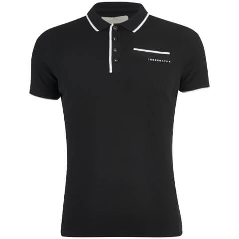 Polo Homme Pinback Arm Crosshatch - Noir