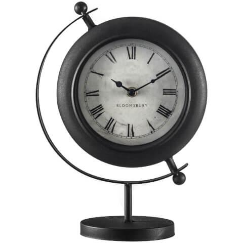 Mantle Clock - Antique Black Metal
