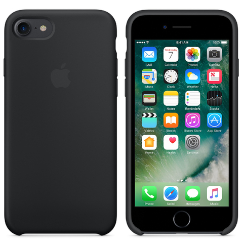 Apple iPhone 7 Silicone Case - Black