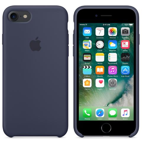 Étui en Silicone pour iPhone 7 -Bleu Nuit
