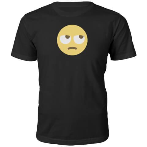 Emoji Unisex Eye Roll Face T-Shirt - Black