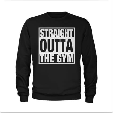 Sweat Homme Straight Outta The Gym - Noir