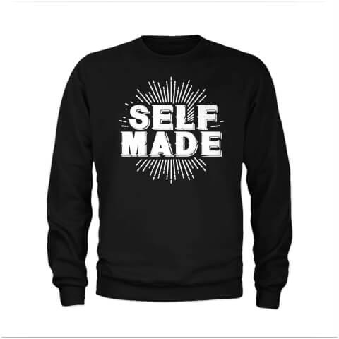 Self Made Slogan Sweatshirt - Black