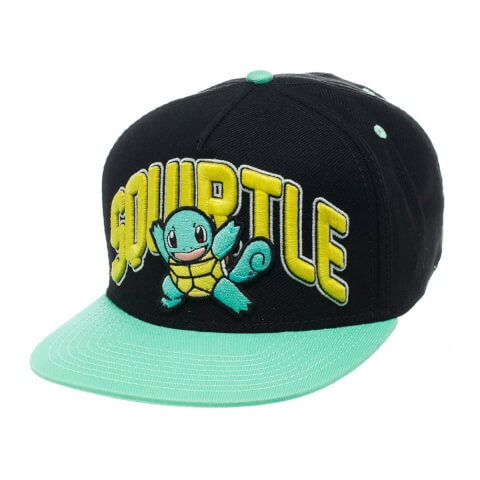 Pokémon Squirtle Snapback Cap - Black/Blue