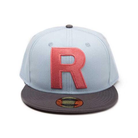 Pokémon Team Rocket Big R Snapback Cap - Blue