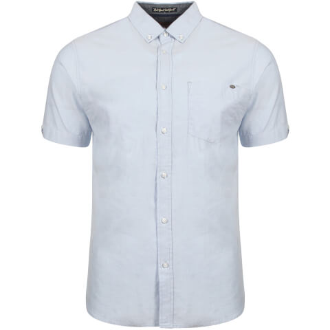 Tokyo Laundry Men's Woodbury Short Sleeve Oxford Shirt - Placid Blue