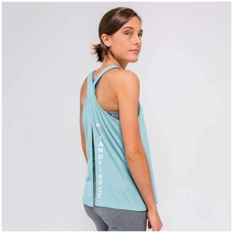 XS - Open Back Vest Tank Top - Soft Khaki