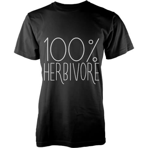 100 Percent Herbivore T-Shirt - Black